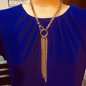 Jewelry - Beautiful gold tone necklace with tassel